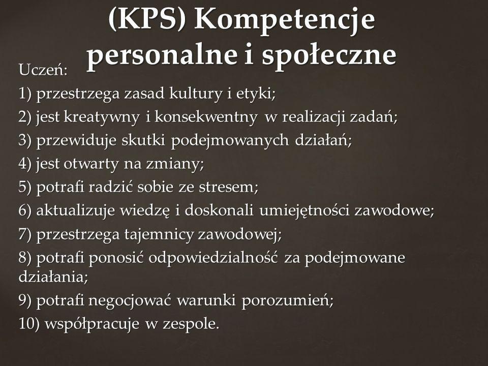 (KPS) Kompetencje personalne i społeczne