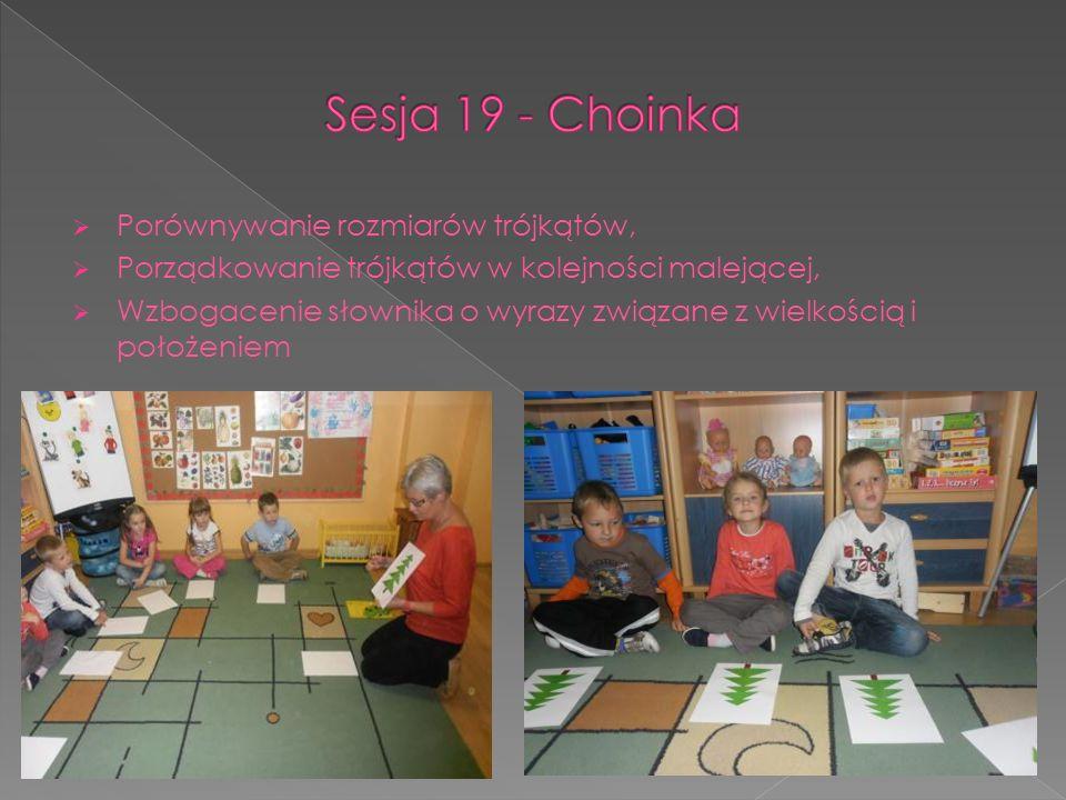 Sesja 19 - Choinka Porównywanie rozmiarów trójkątów,