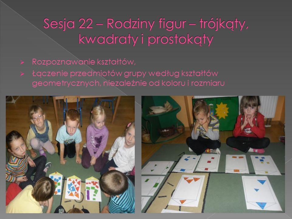 Sesja 22 – Rodziny figur – trójkąty, kwadraty i prostokąty