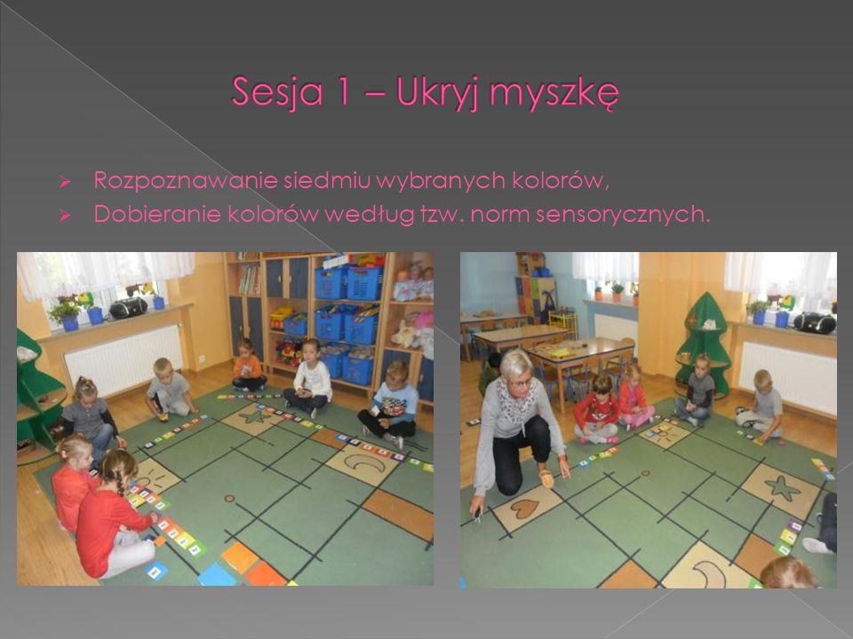 Sesja 1 – Ukryj myszkę Rozpoznawanie siedmiu wybranych kolorów,