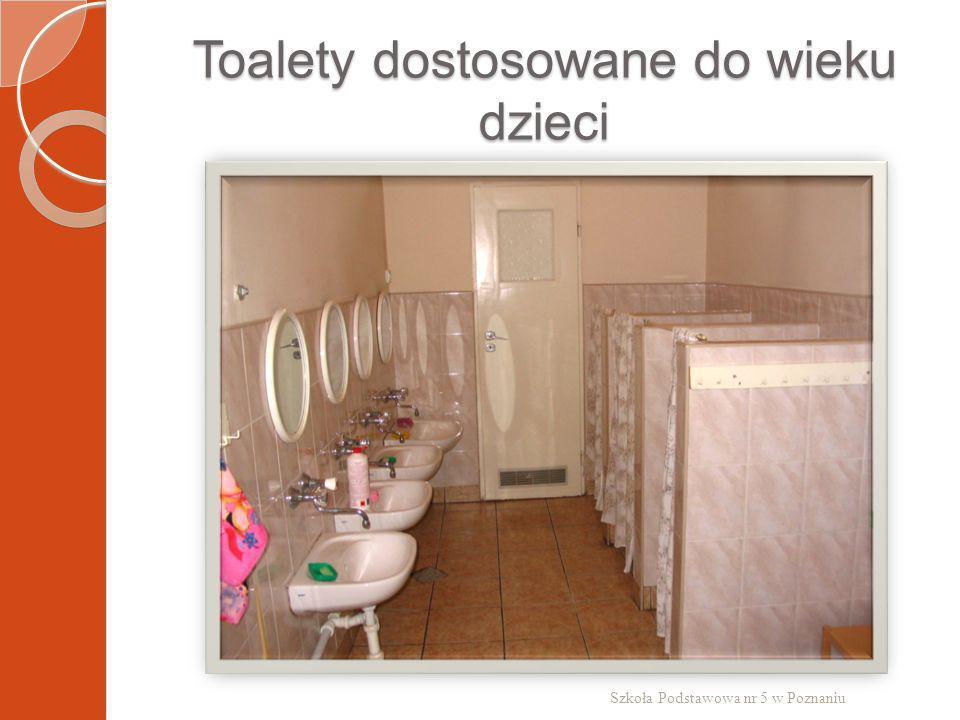 Toalety dostosowane do wieku dzieci