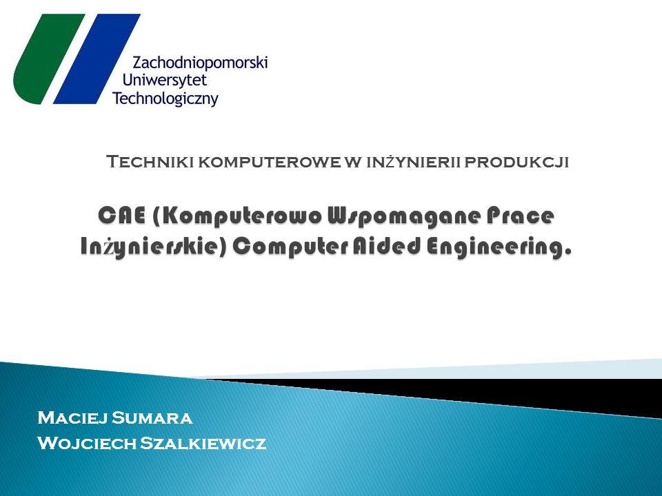 Techniki komputerowe w inżynierii produkcji
