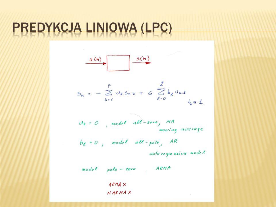 Predykcja liniowa (LPC)