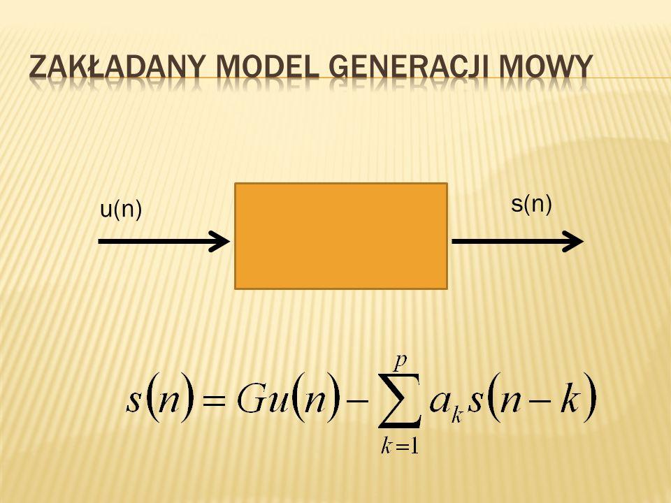 Zakładany model generacji mowy
