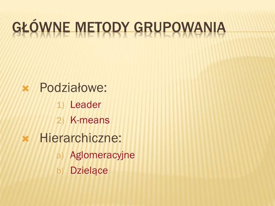 Główne metody grupowania