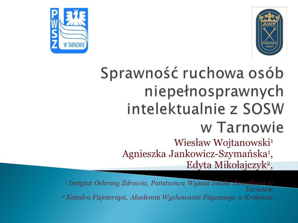 Sprawność ruchowa osób niepełnosprawnych intelektualnie z SOSW w Tarnowie
