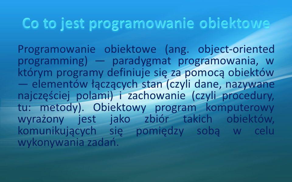 Co to jest programowanie obiektowe