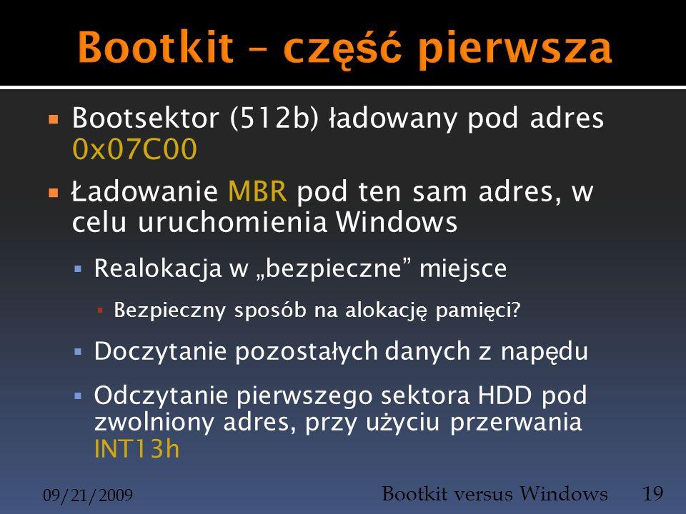 Bootkit – część pierwsza