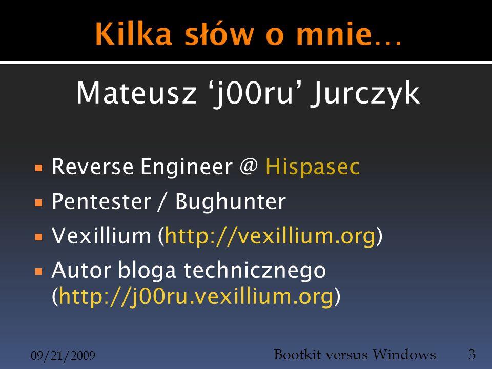 Kilka słów o mnie… Mateusz 'j00ru' Jurczyk Reverse Engineer @ Hispasec
