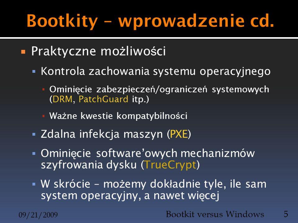 Bootkity – wprowadzenie cd.