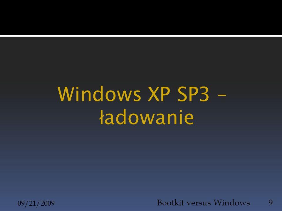 Windows XP SP3 – ładowanie
