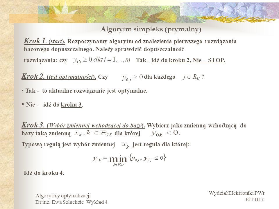 Algorytm simpleks (prymalny)