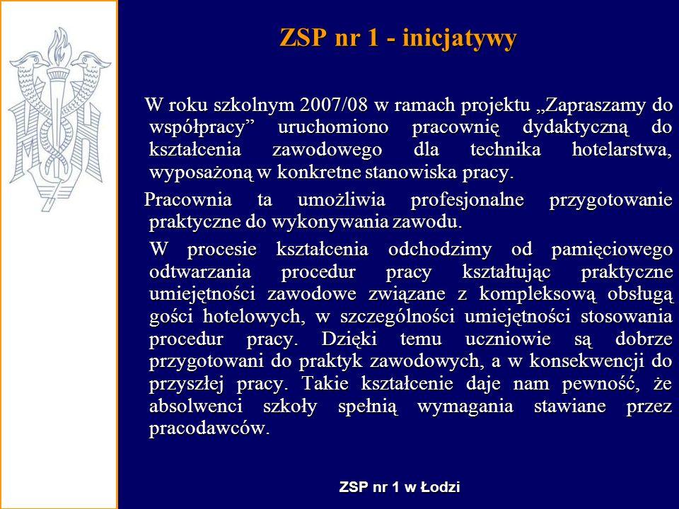 ZSP nr 1 - inicjatywy