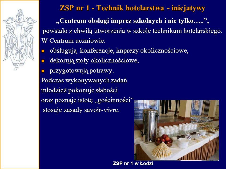 ZSP nr 1 - Technik hotelarstwa - inicjatywy