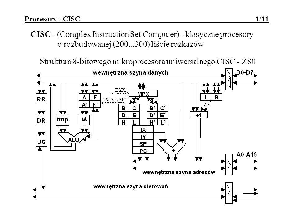 Struktura 8-bitowego mikroprocesora uniwersalnego CISC - Z80