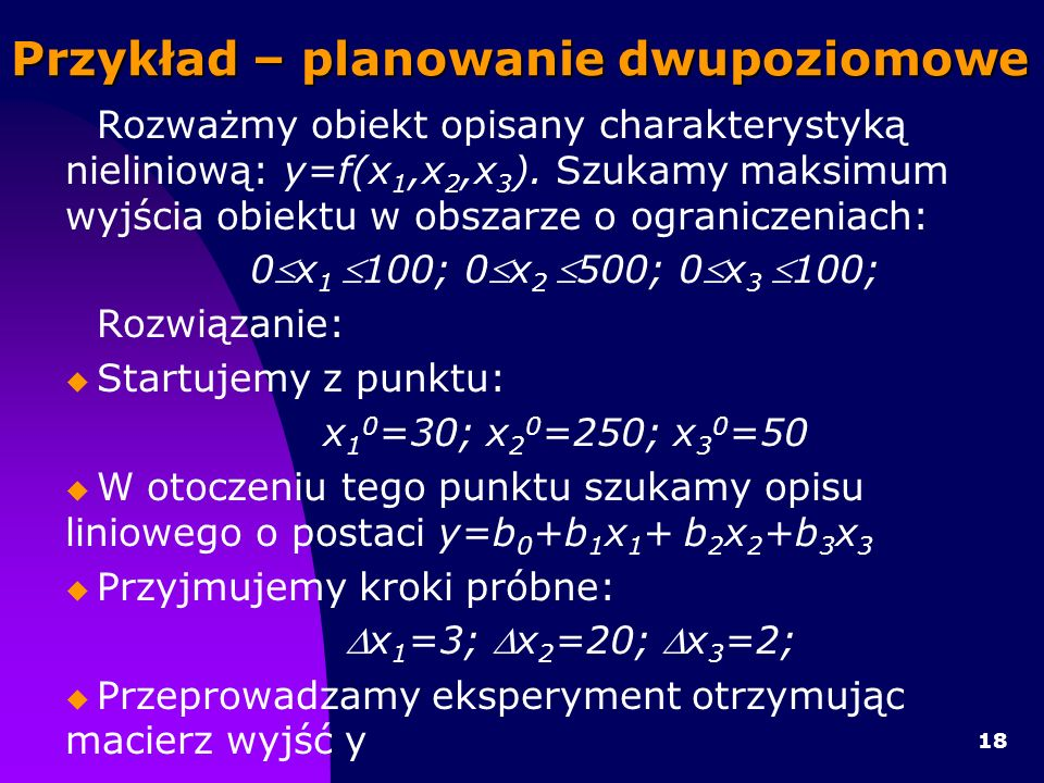 Przykład – planowanie dwupoziomowe