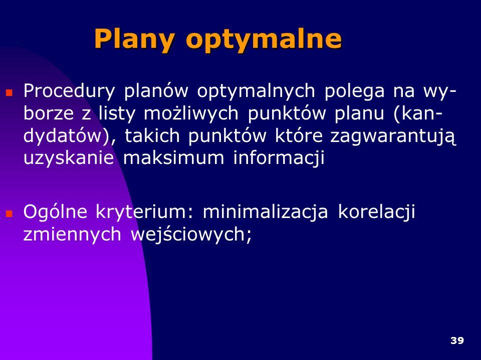 Plany optymalne