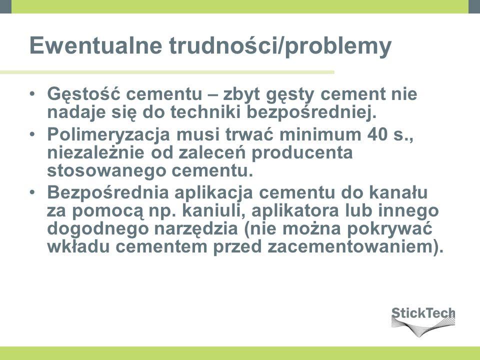 Ewentualne trudności/problemy