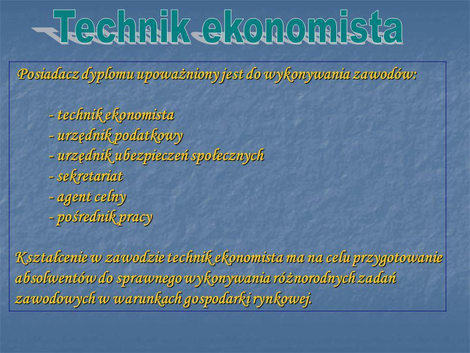 Technik ekonomista - technik ekonomista - urzędnik podatkowy