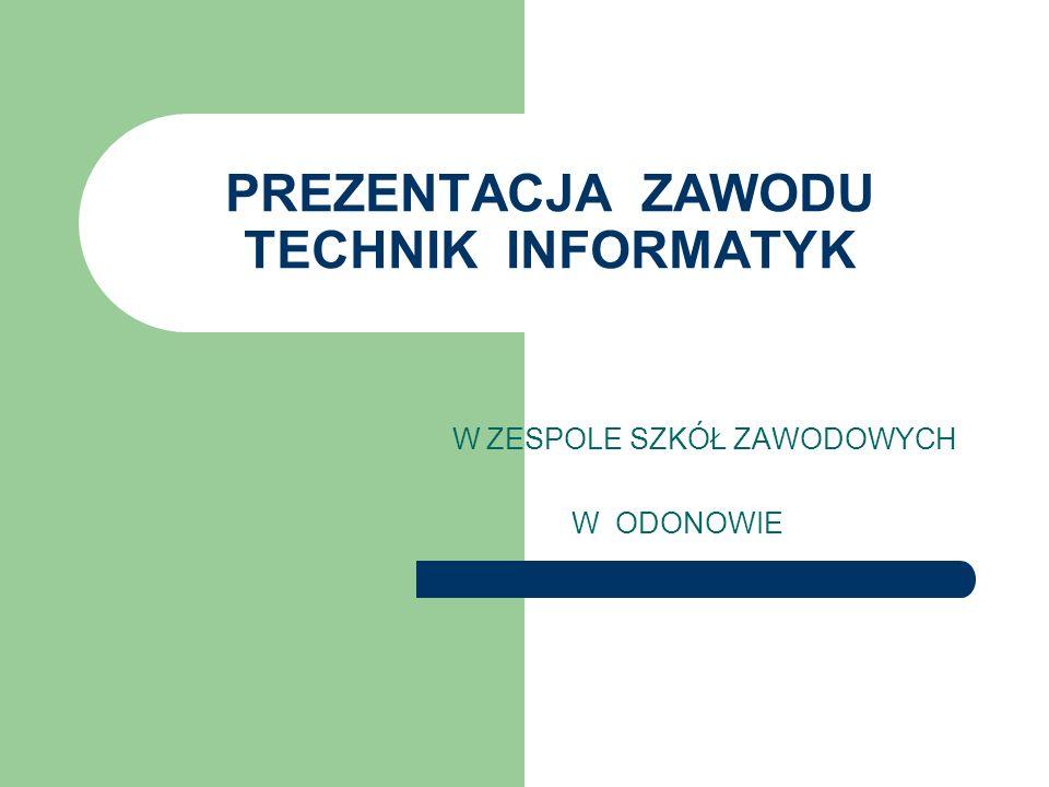 PREZENTACJA ZAWODU TECHNIK INFORMATYK