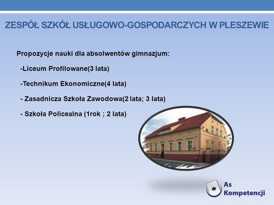 Zespół Szkół Usługowo-Gospodarczych w Pleszewie