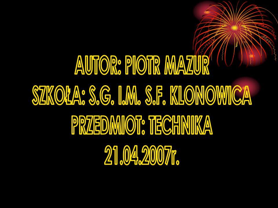 SZKOŁA: S.G. I.M. S.F. KLONOWICA