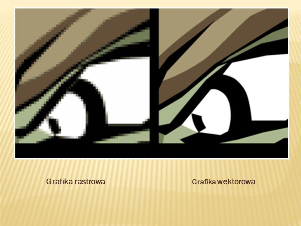 Grafika rastrowa Grafika wektorowa