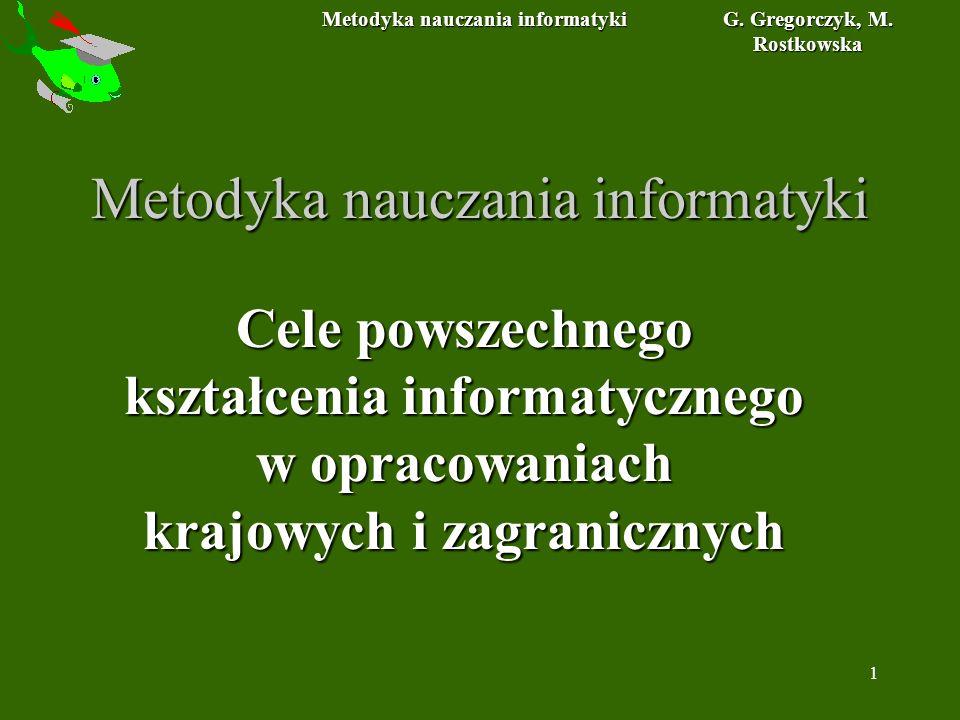 Metodyka nauczania informatyki