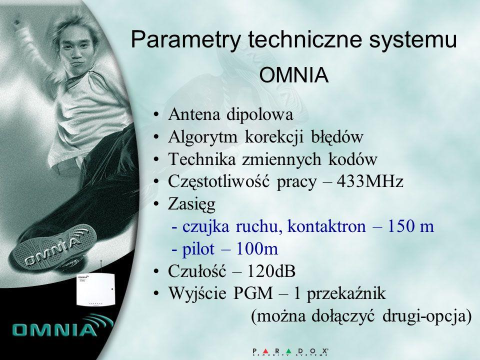 Parametry techniczne systemu OMNIA