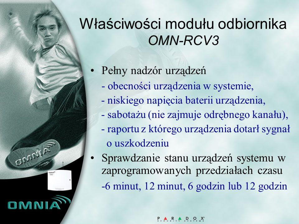 Właściwości modułu odbiornika OMN-RCV3