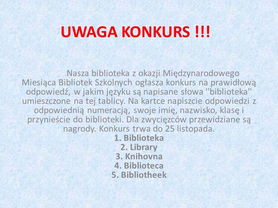 UWAGA KONKURS !!!