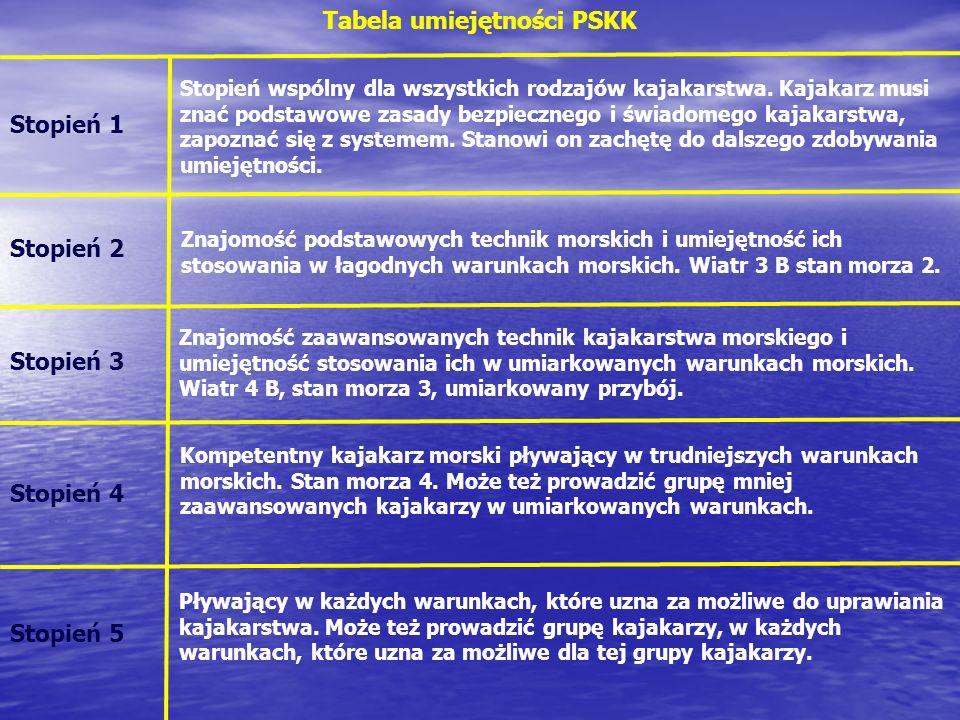 Tabela umiejętności PSKK
