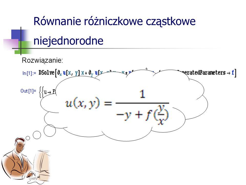 Równanie różniczkowe cząstkowe niejednorodne