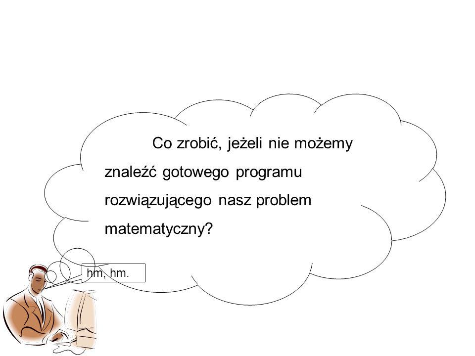 Co zrobić, jeżeli nie możemy znaleźć gotowego programu rozwiązującego nasz problem matematyczny