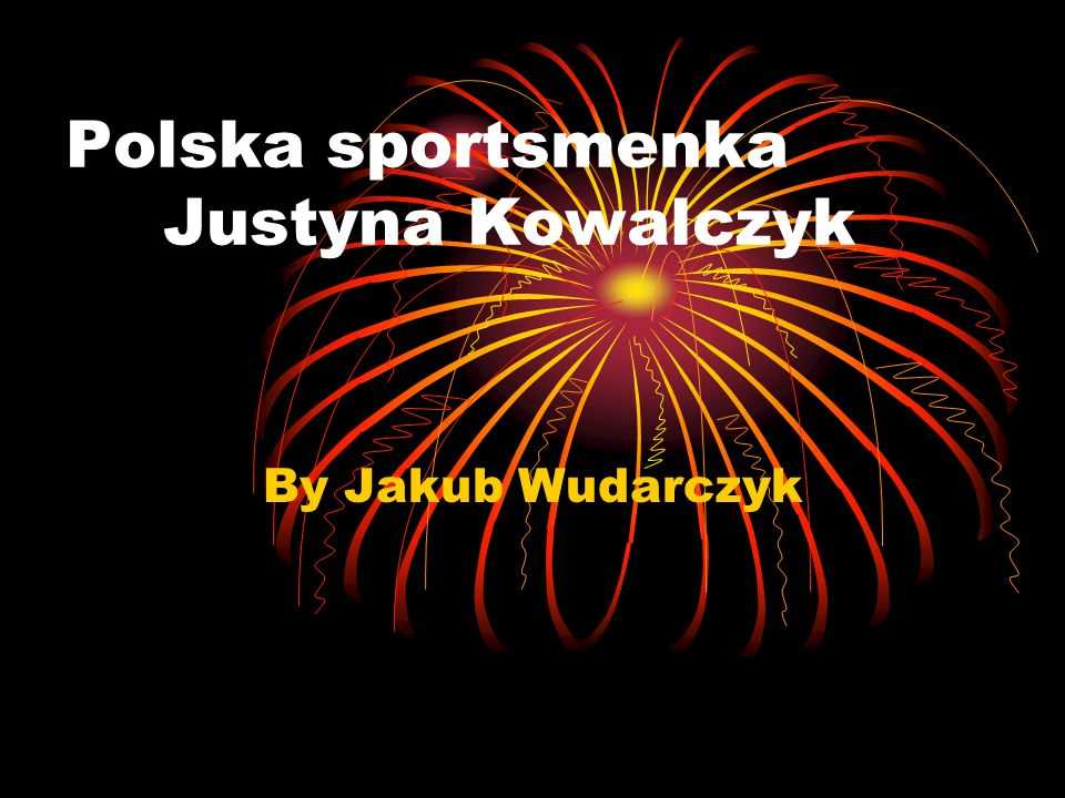 Polska sportsmenka Justyna Kowalczyk