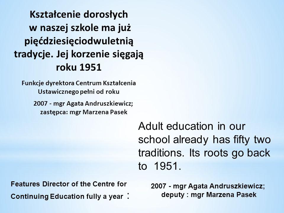 Kształcenie dorosłych