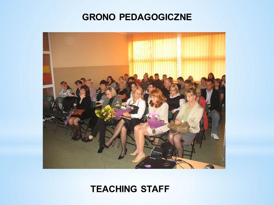 GRONO PEDAGOGICZNE TEACHING STAFF