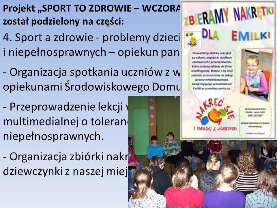 4. Sport a zdrowie - problemy dzieci chorych