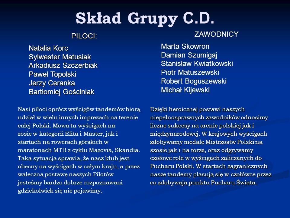Skład Grupy C.D. ZAWODNICY PILOCI: