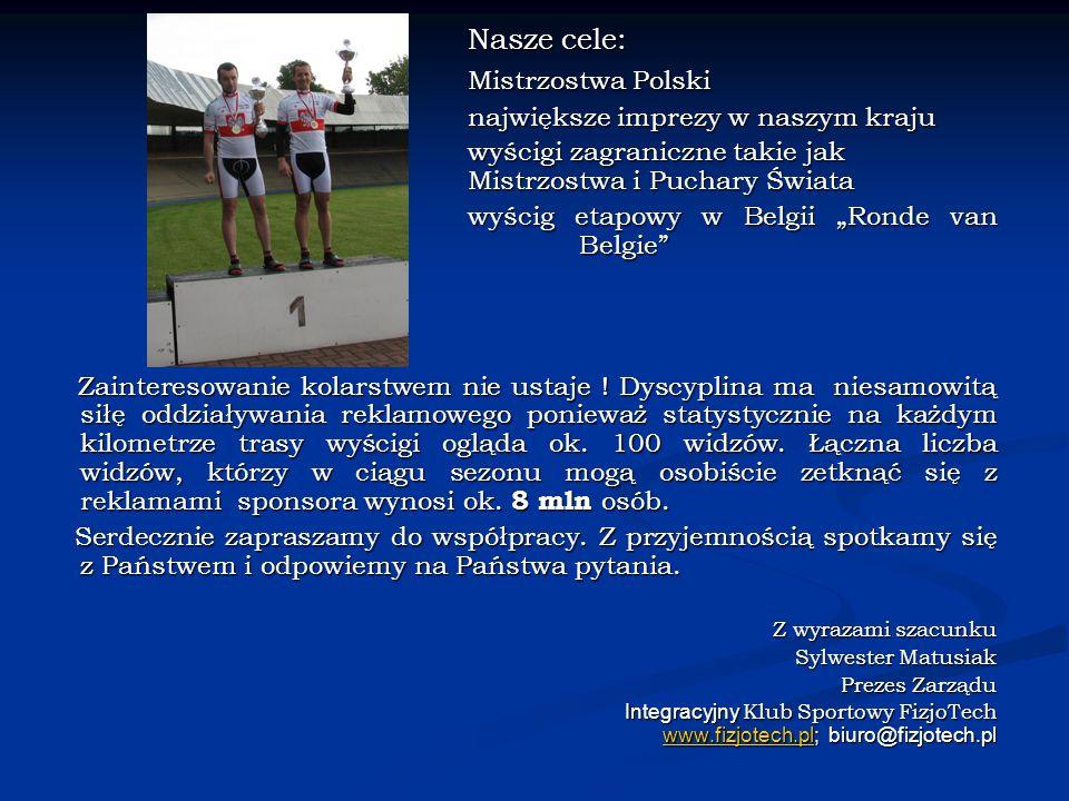 Nasze cele: Mistrzostwa Polski Z wyrazami szacunku