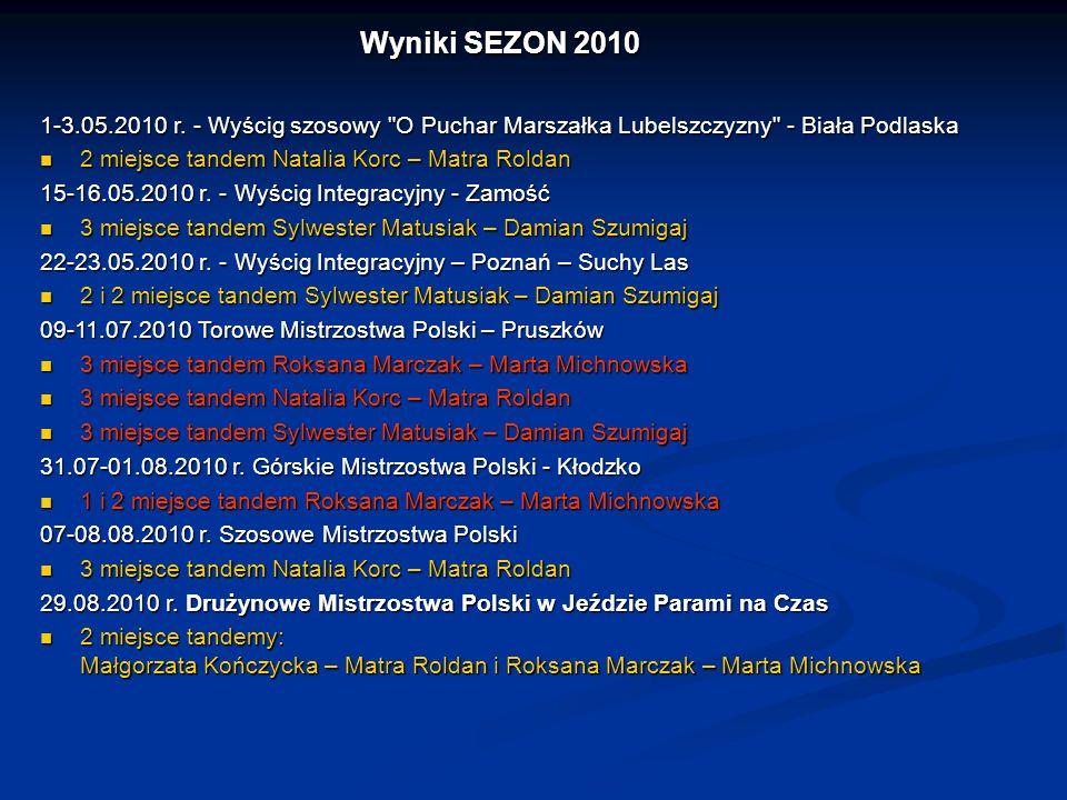 Wyniki SEZON 2010 1-3.05.2010 r. - Wyścig szosowy O Puchar Marszałka Lubelszczyzny - Biała Podlaska.