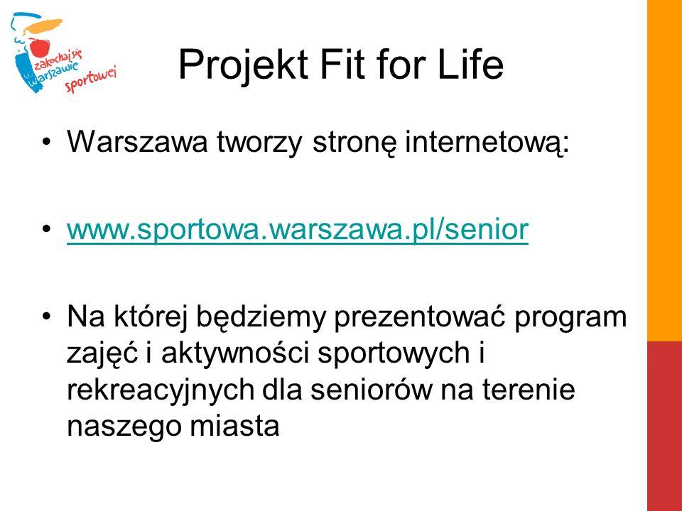 Projekt Fit for Life Warszawa tworzy stronę internetową: