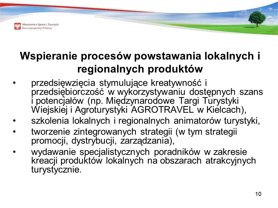Wspieranie procesów powstawania lokalnych i regionalnych produktów