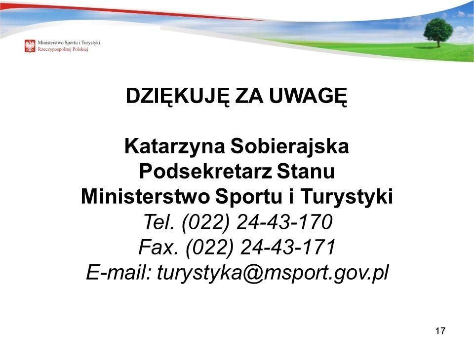Katarzyna Sobierajska Ministerstwo Sportu i Turystyki