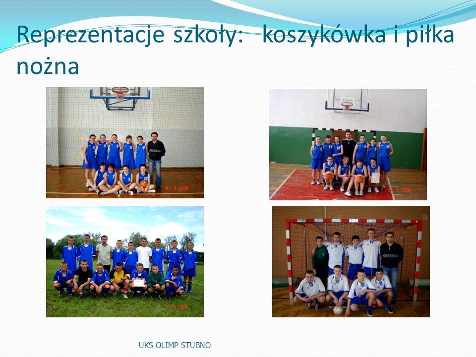 Reprezentacje szkoły: koszykówka i piłka nożna