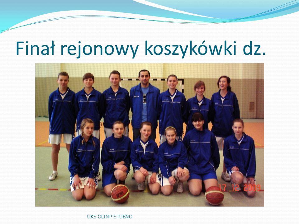 Finał rejonowy koszykówki dz.