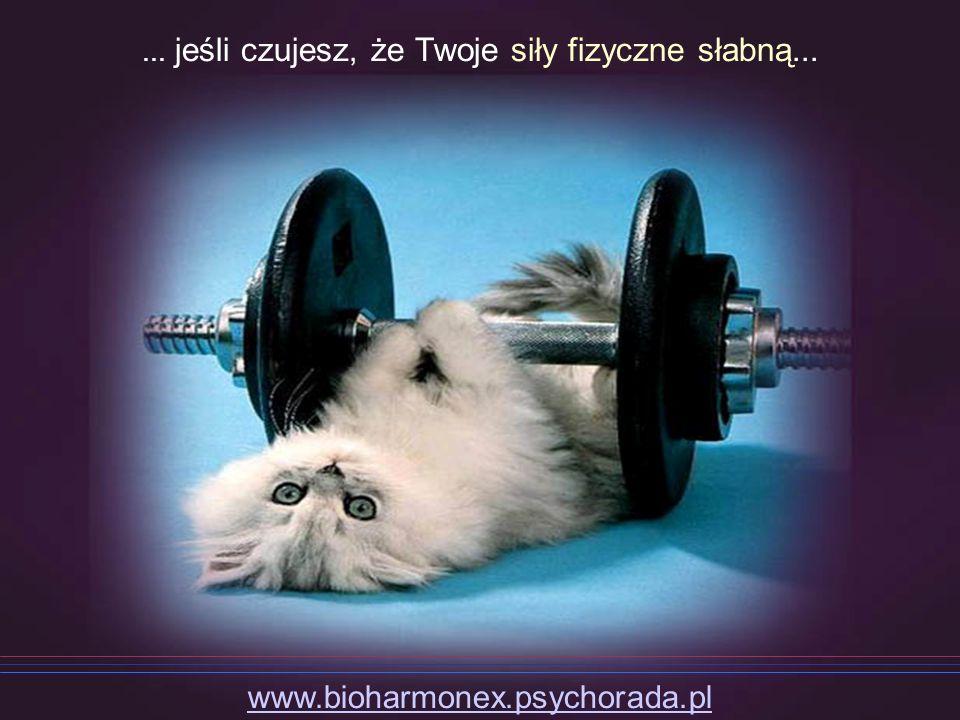 ... jeśli czujesz, że Twoje siły fizyczne słabną...