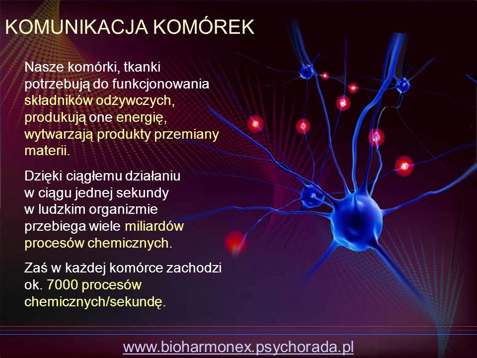 KOMUNIKACJA KOMÓREK www.bioharmonex.psychorada.pl