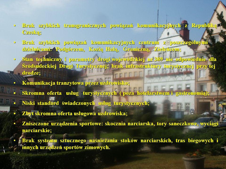 Brak szybkich transgranicznych powiązań komunikacyjnych z Republiką Czeską;