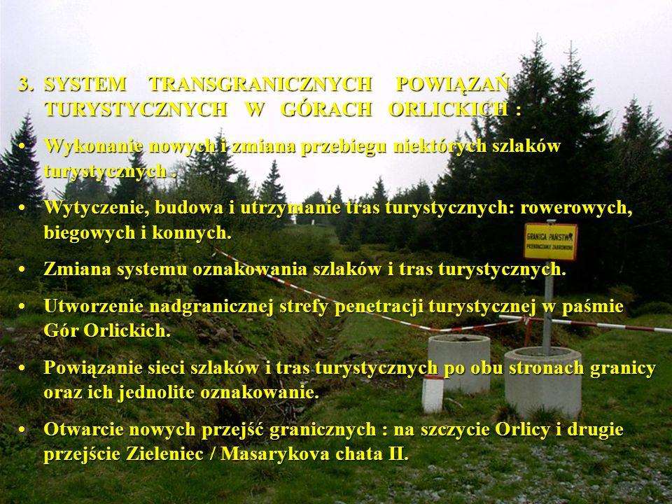 3. SYSTEM TRANSGRANICZNYCH POWIĄZAŃ TURYSTYCZNYCH W GÓRACH ORLICKICH :